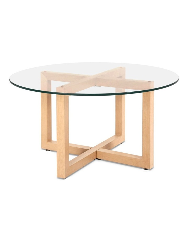 Tempered Glass Round Coffee Table image 1