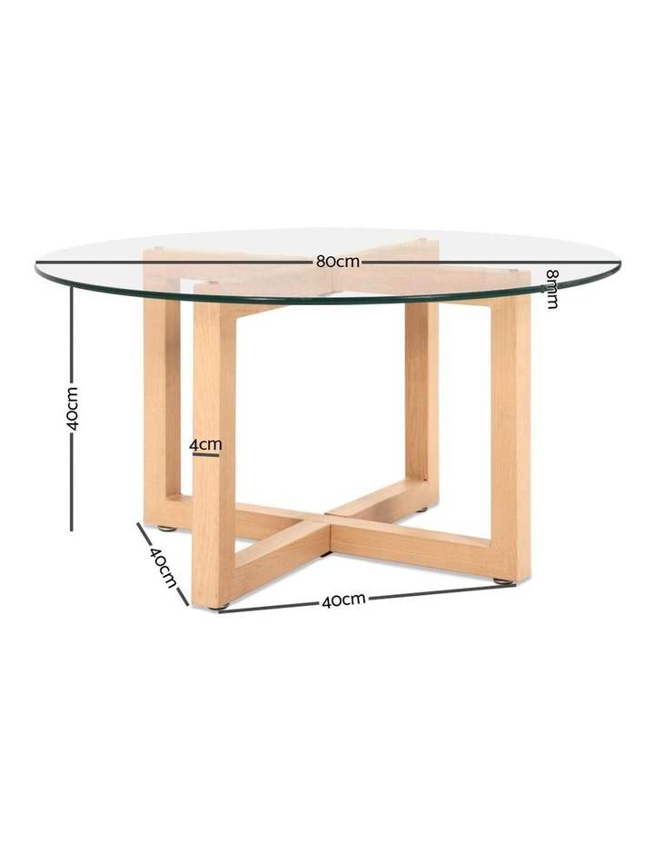 Tempered Glass Round Coffee Table image 2