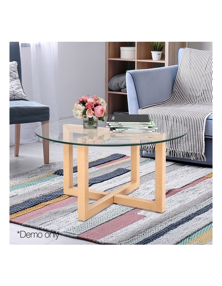 Tempered Glass Round Coffee Table image 3