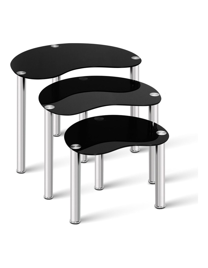 Set Of 3 Glass Coffee Tables image 1