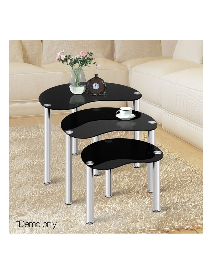 Set Of 3 Glass Coffee Tables image 3