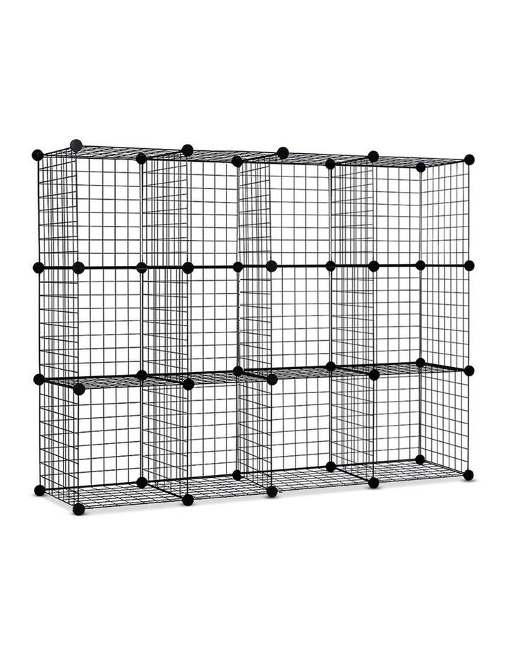 12 Cube Mesh Wire Storage Cabinet image 1