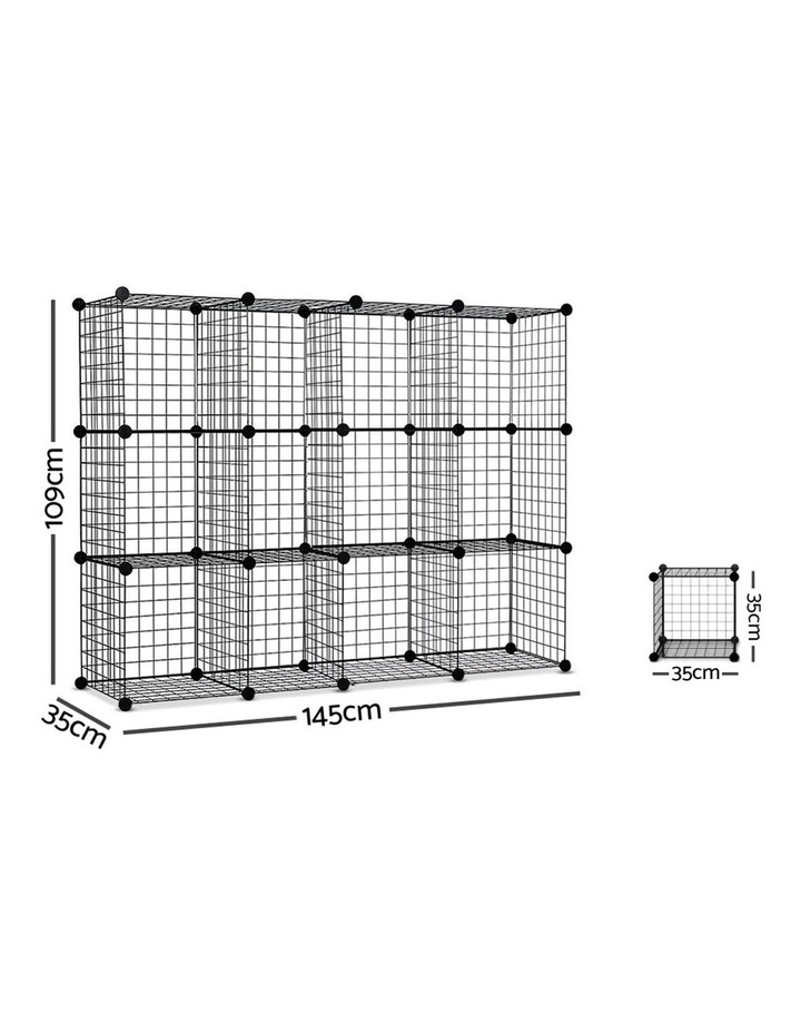 12 Cube Mesh Wire Storage Cabinet image 2