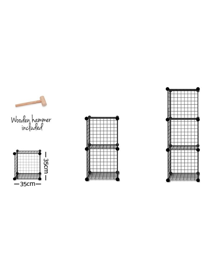16 Cube Metal Wire Storage Cabinet - Black image 4