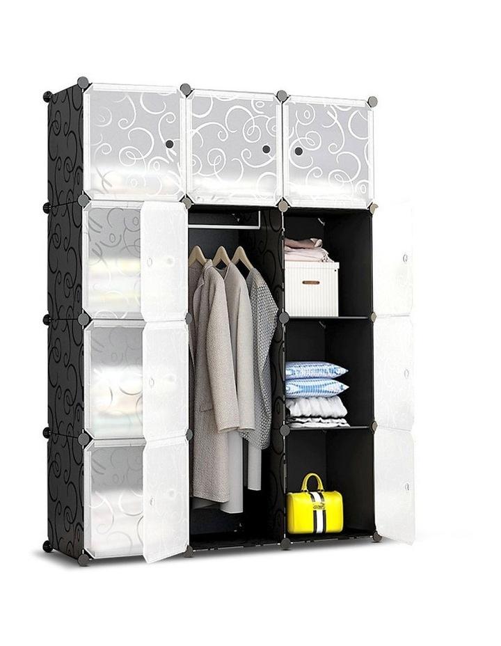 12 Cube Portable Storage Cabinet Wardrobe - Black image 1