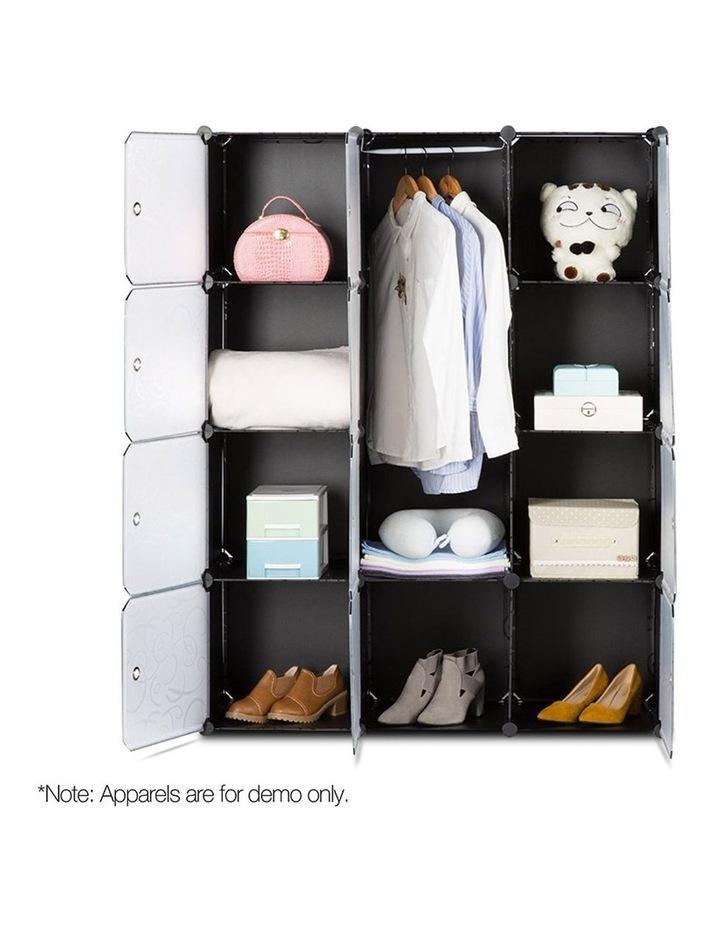 12 Cube Portable Storage Cabinet Wardrobe - Black image 4