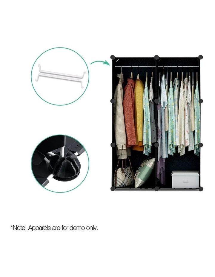 12 Cube Portable Storage Cabinet Wardrobe - Black image 5