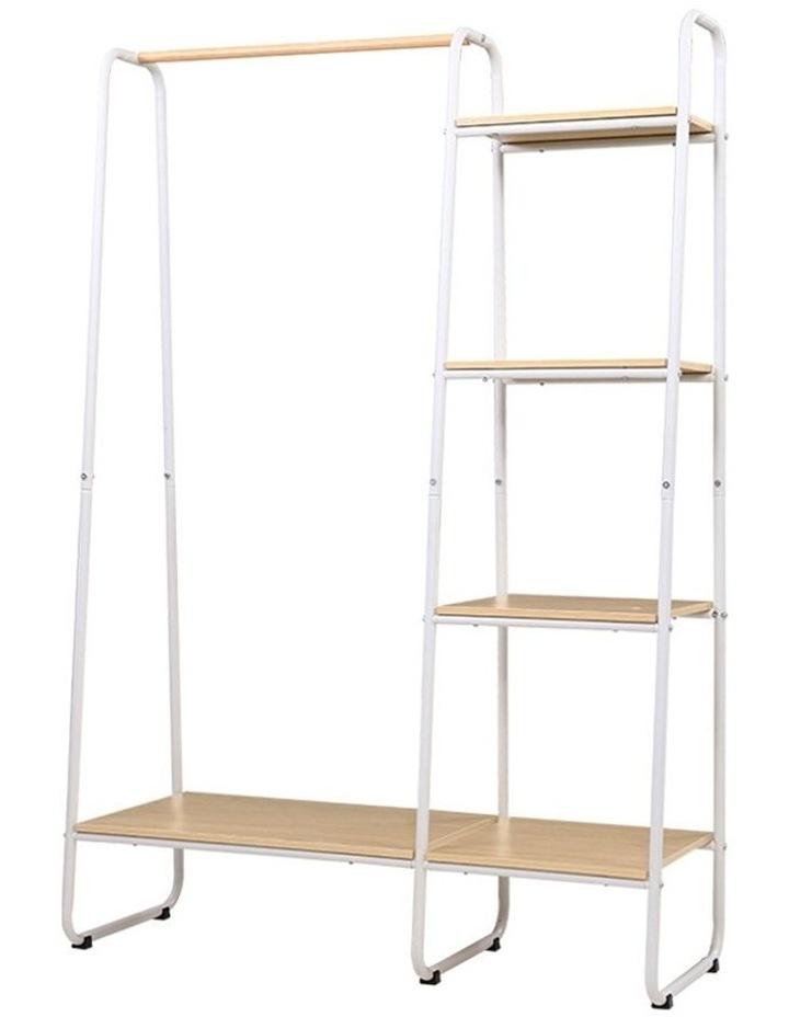 Closet Storage Rack Clothes Hanger Shelf Garment Rail Stand Wardrobe Organiser image 1