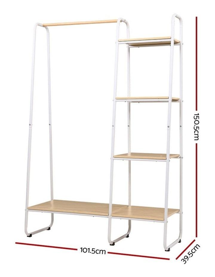 Closet Storage Rack Clothes Hanger Shelf Garment Rail Stand Wardrobe Organiser image 2