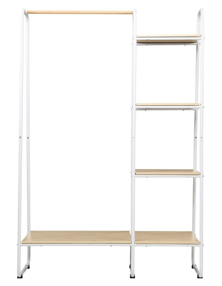 Closet Storage Rack Clothes Hanger Shelf Garment Rail Stand Wardrobe Organiser image 3