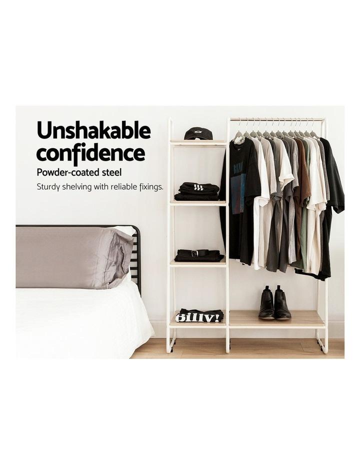 Closet Storage Rack Clothes Hanger Shelf Garment Rail Stand Wardrobe Organiser image 4