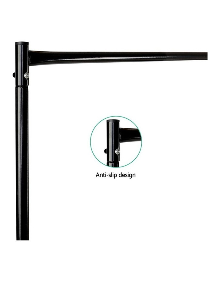 6Ft Metal Garment Display Rail - Black image 2