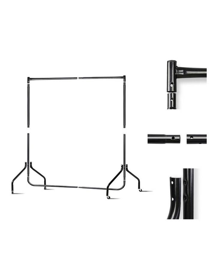 6Ft Metal Garment Display Rail - Black image 5