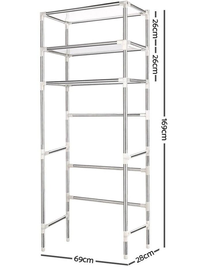 3 Tier Laundry Storage Rack - Silver image 2