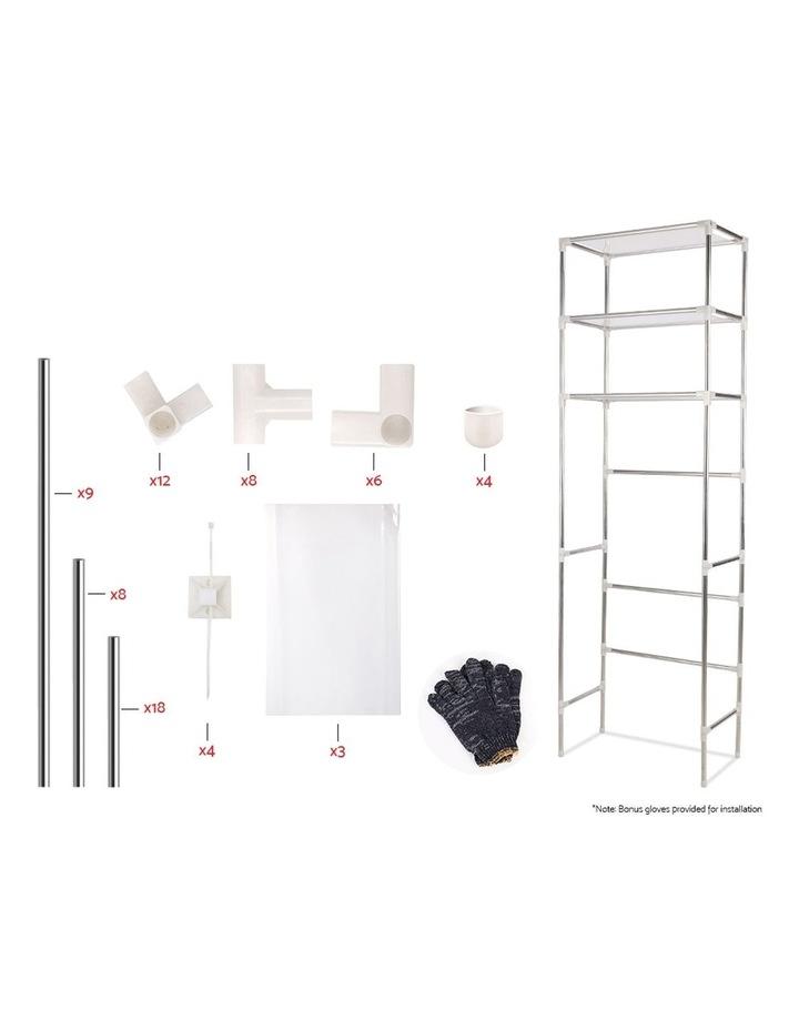 3 Tier Laundry Storage Rack - Silver image 3