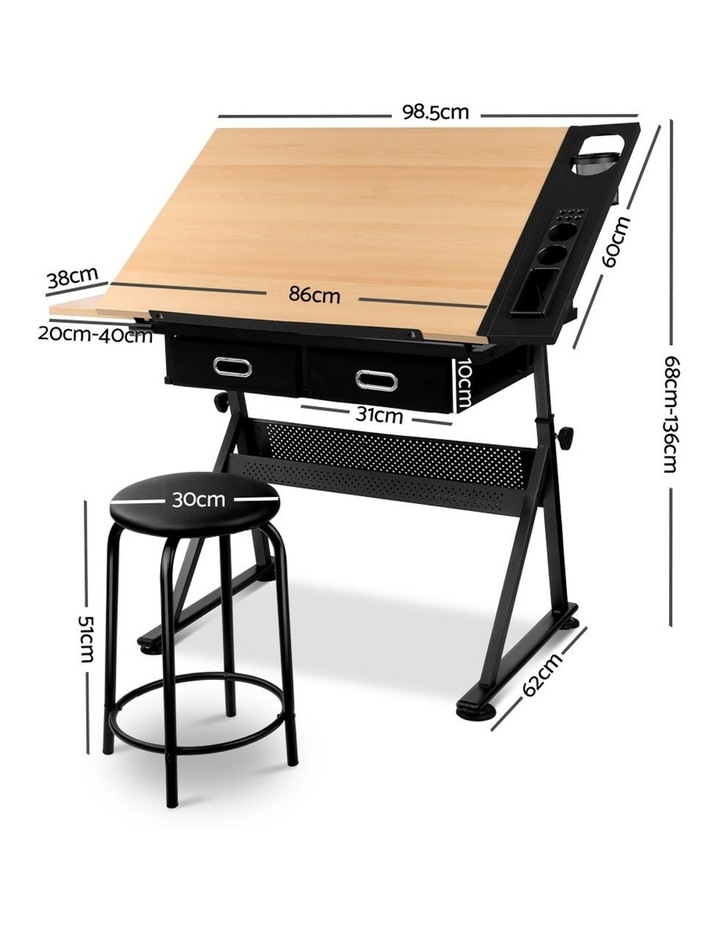 Tilt Drafting Table Stool Set image 2