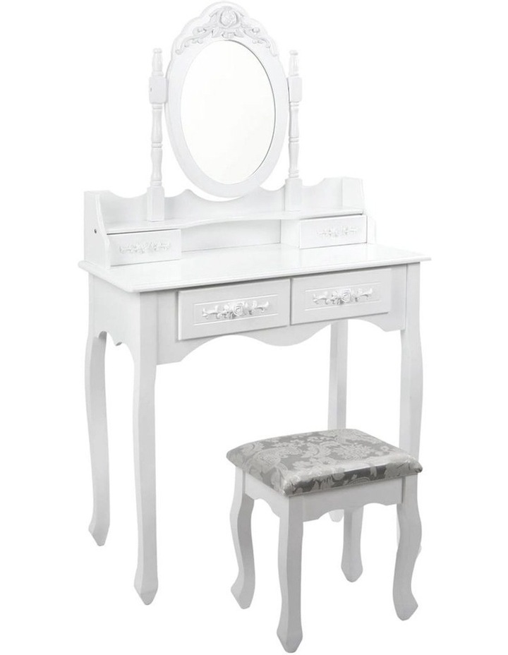 4 Drawer Dressing Table With Mirror image 1