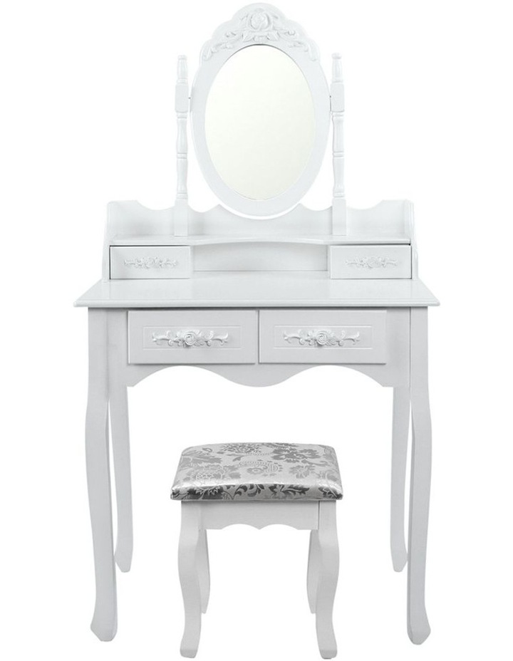 4 Drawer Dressing Table With Mirror image 4