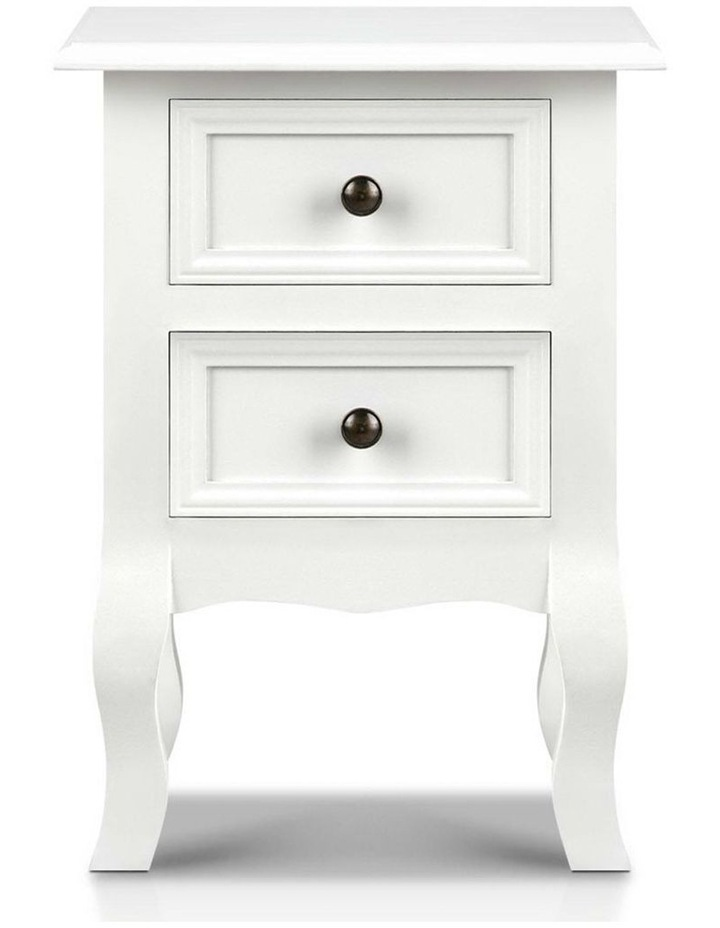 Bedside Table French Provincial Lamp Cabinet 2 Drawers image 3