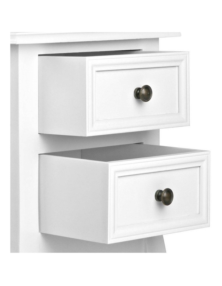 Bedside Table French Provincial Lamp Cabinet 2 Drawers image 5