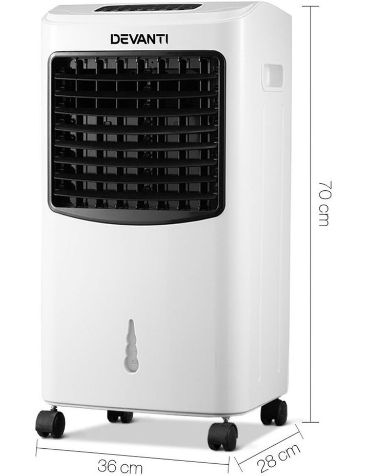 Devanti Portable Air Cooler And Humidifier Conditioner - Black & White image 2