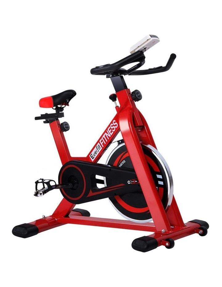 Everfit Spin Exercise Bike Cycling Fitness Commercial Home Workout Gym Red image 1