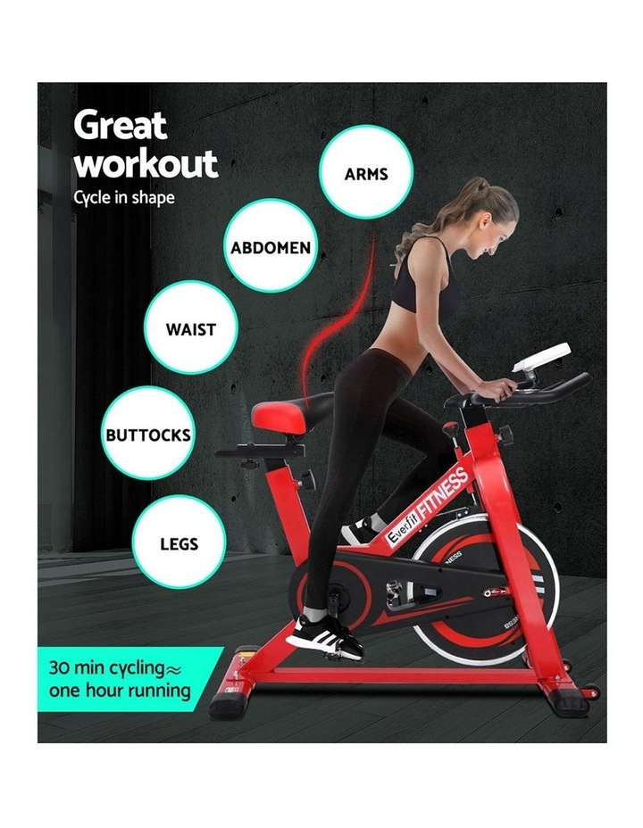 Everfit Spin Exercise Bike Cycling Fitness Commercial Home Workout Gym Red image 3