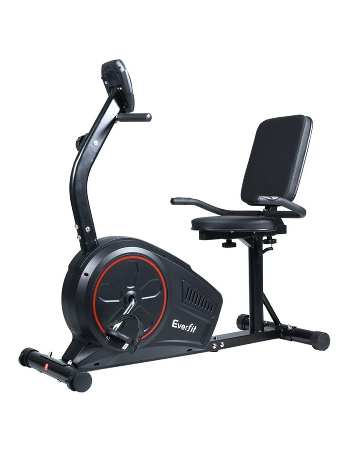 Everfit Magnetic Recumbent Exercise Bike Fitness Trainer Home Gym Equipment Bk image 1