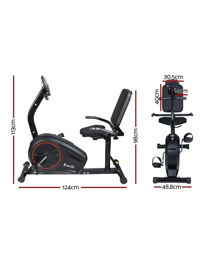 Everfit Magnetic Recumbent Exercise Bike Fitness Trainer Home Gym Equipment Bk image 2