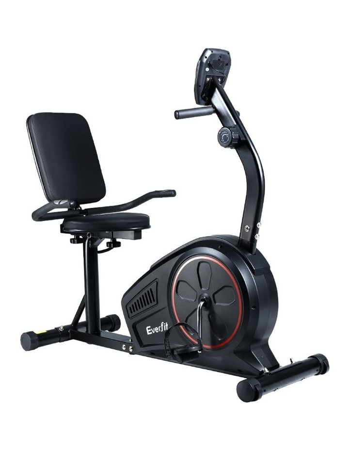 Everfit Magnetic Recumbent Exercise Bike Fitness Trainer Home Gym Equipment Bk image 3