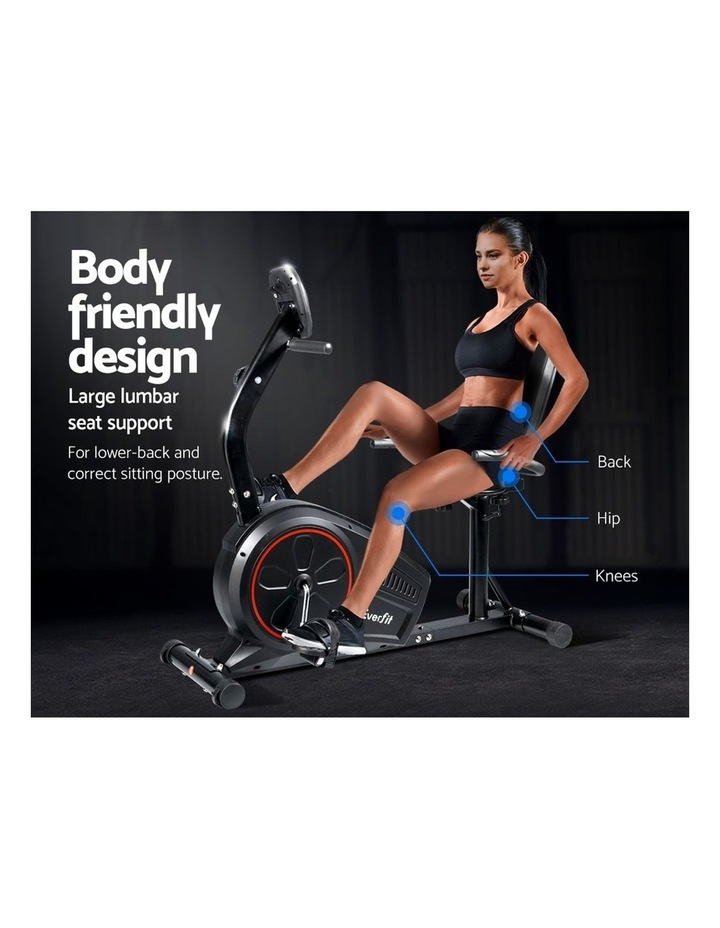Everfit Magnetic Recumbent Exercise Bike Fitness Trainer Home Gym Equipment Bk image 4