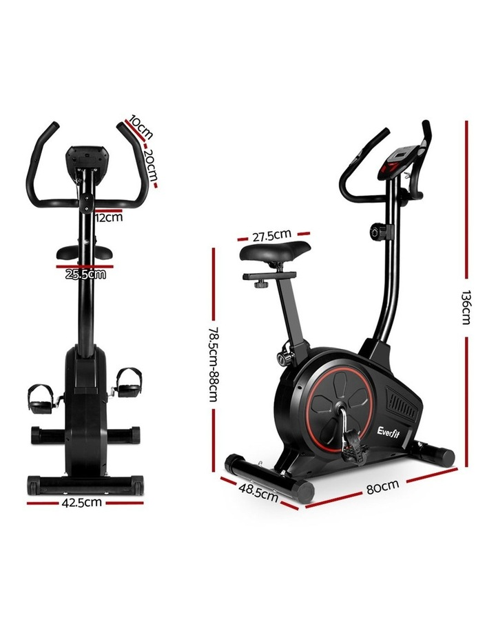 Everfit Exercise Bike Training Bicycle Fitness Equipment Home Gym Trainer Black image 2