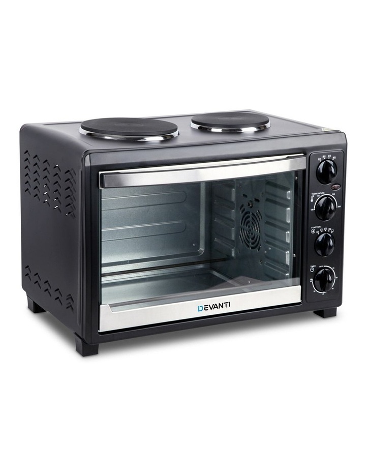 45L Convection Oven with Hotplates - Black image 1