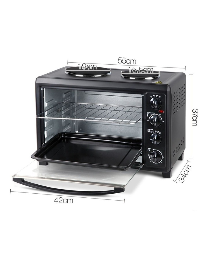 45L Convection Oven with Hotplates - Black image 2