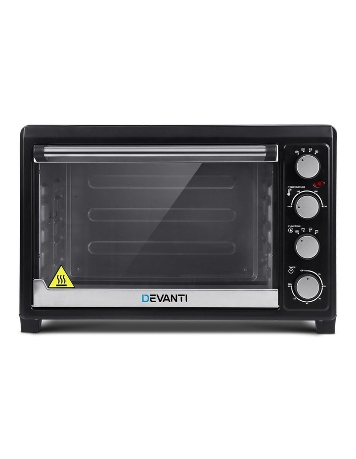 Devanti Electric Convection Oven Bake Benchtop Rotisserie Grill 45L Black image 2