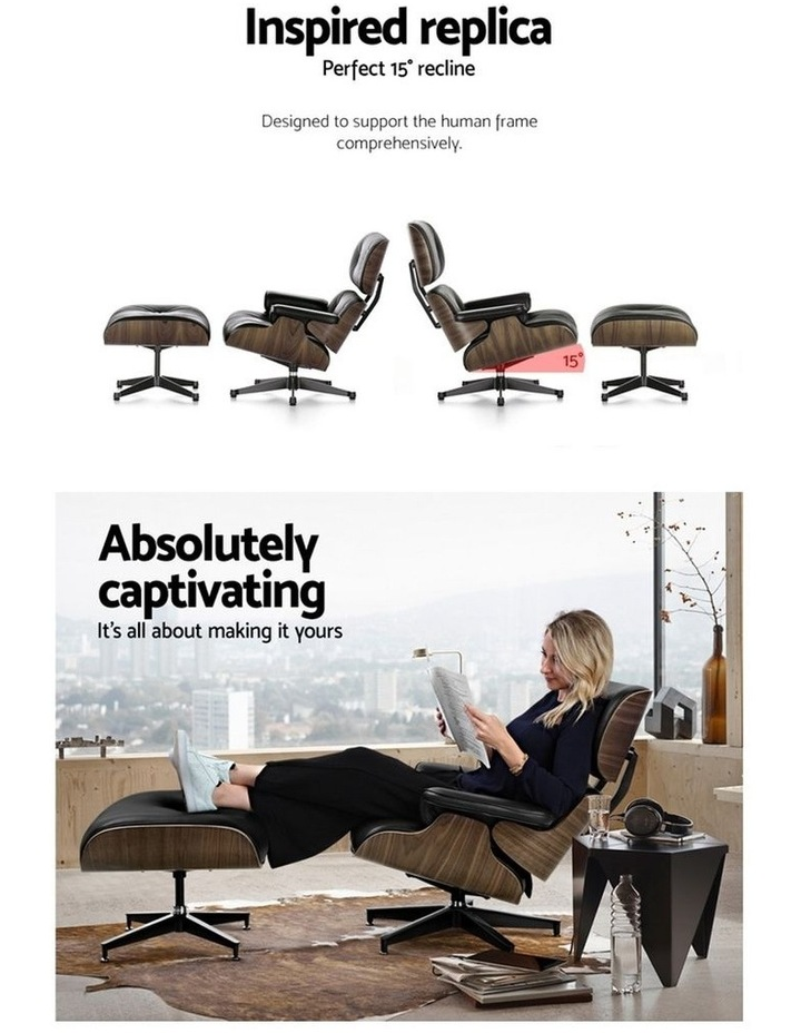 Replica Eames Lounge Chair & Ottoman Recliner image 4