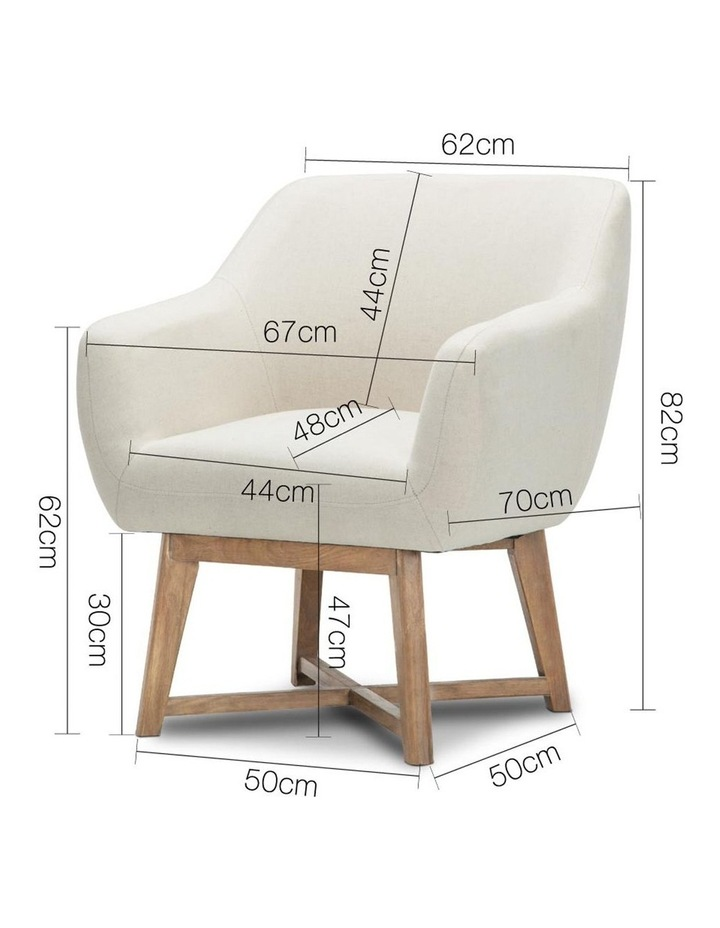 Fabric Tub Lounge Armchair image 2
