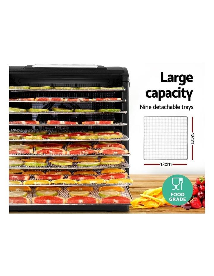 Devanti 9 Tray Food Dehydrators Commercial Beef Jerky Maker Fruit Dryer Black image 4