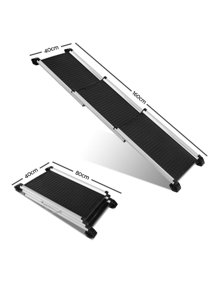 Deluxe Aluminium Foldable Pet Ramp - Black image 2