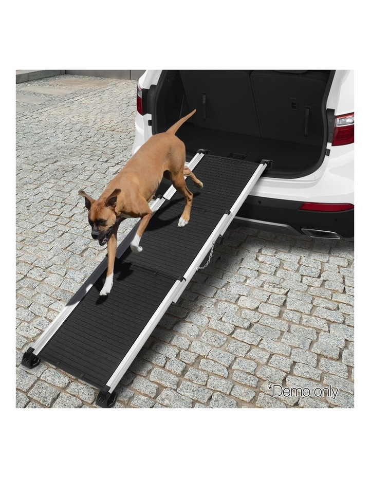 Deluxe Aluminium Foldable Pet Ramp - Black image 3