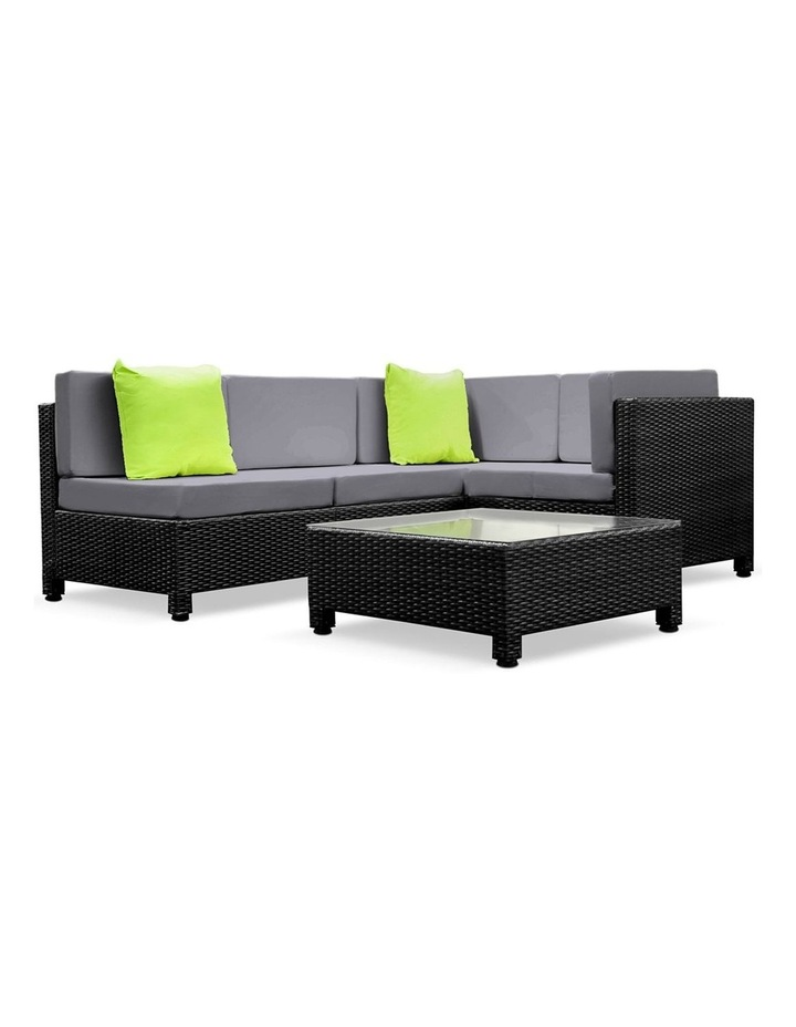 Gardeon 5 Piece PE Wicker Outdoor Sofa image 1