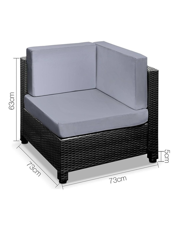 Gardeon 5 Piece PE Wicker Outdoor Sofa image 2