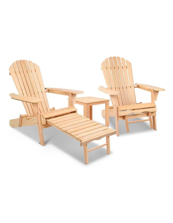 3 Piece Outdoor Chair and Table Set image 1