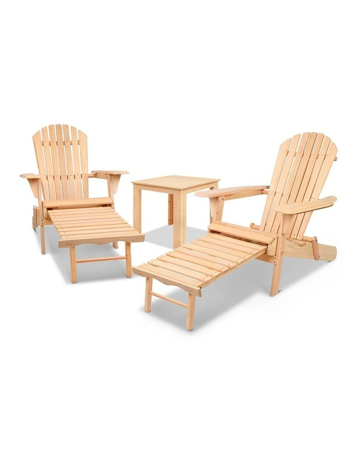 3 Piece Outdoor Chair and Table Set image 5