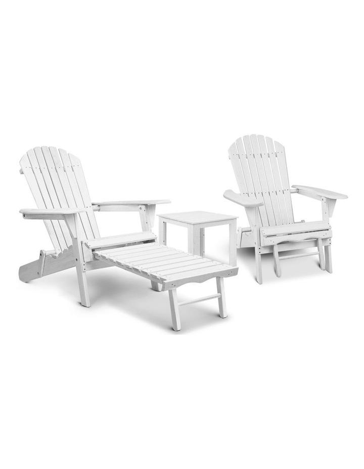 3 Piece Outdoor Adirondack Lounge Set image 1