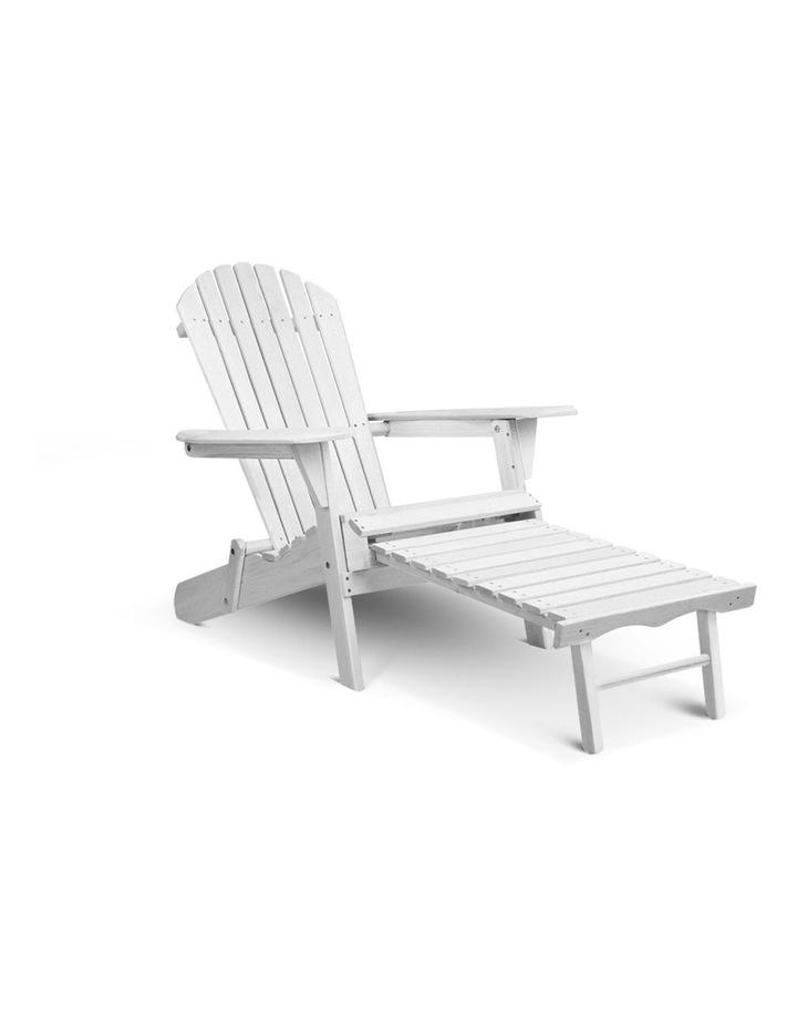 Adirondack Chair with Ottoman image 1