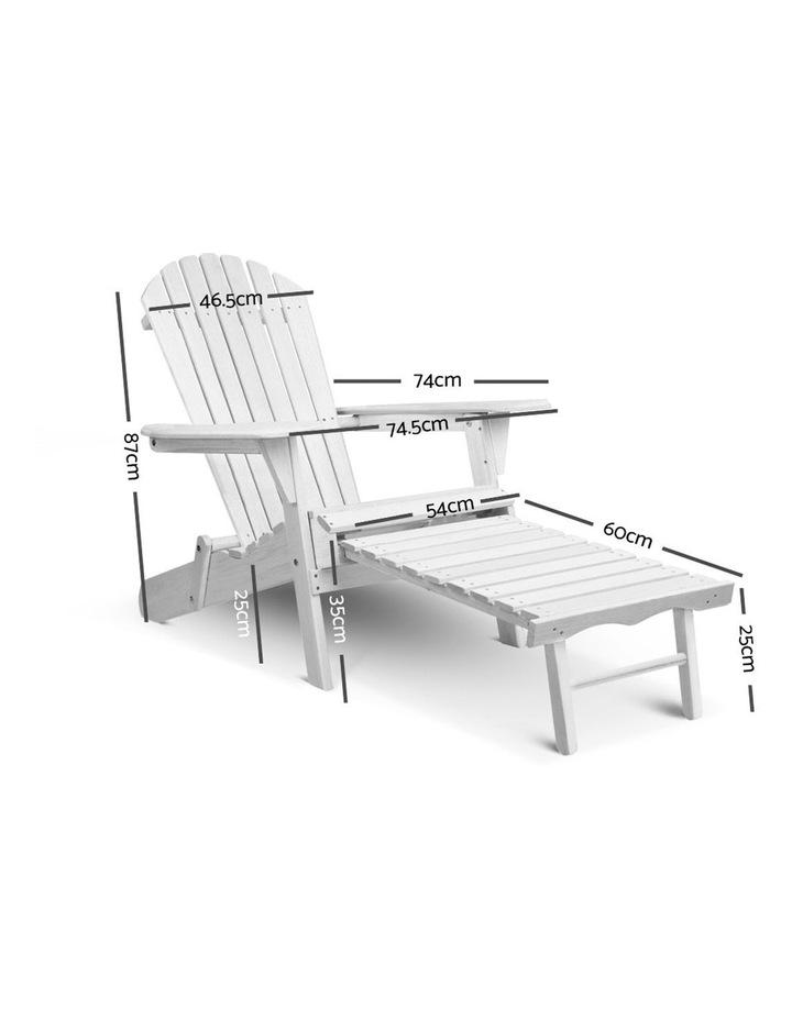 Adirondack Chair with Ottoman image 2