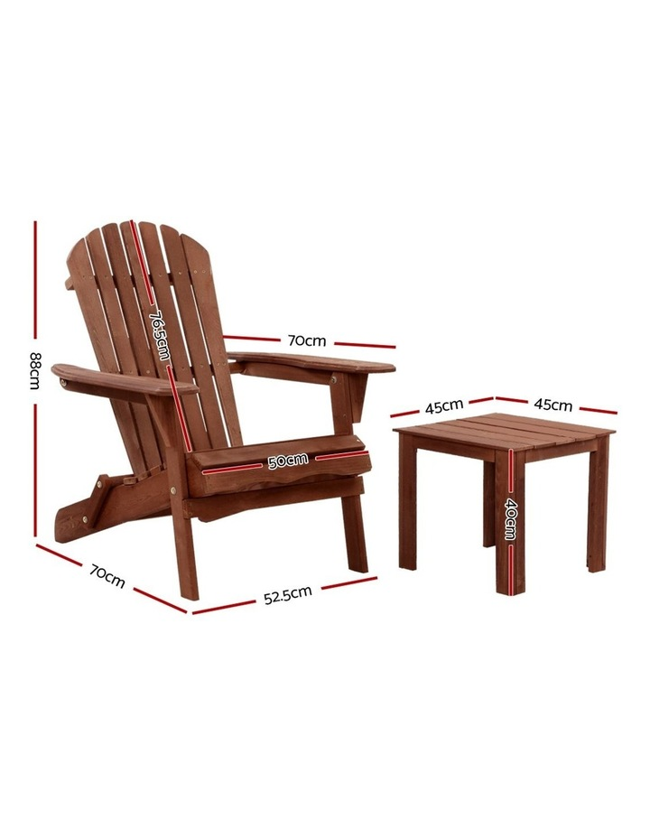 3pc Outdoor Setting Beach Chairs Table image 2