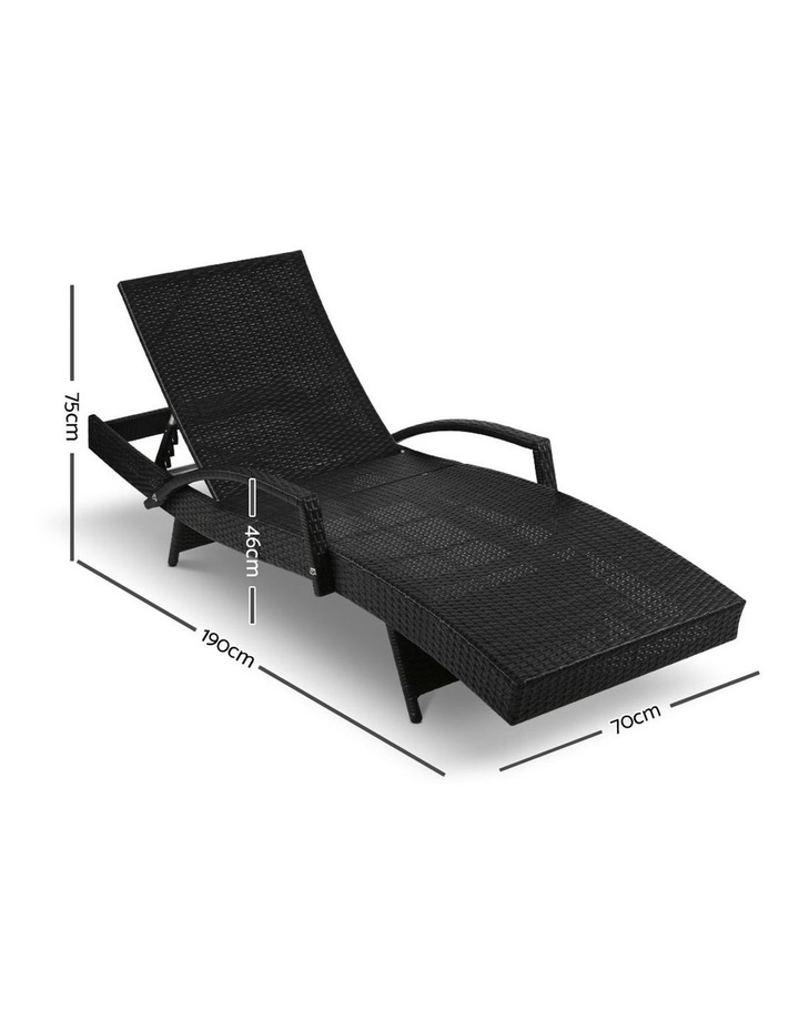 Outdoor Sun Lounge Chair with Cushion image 2