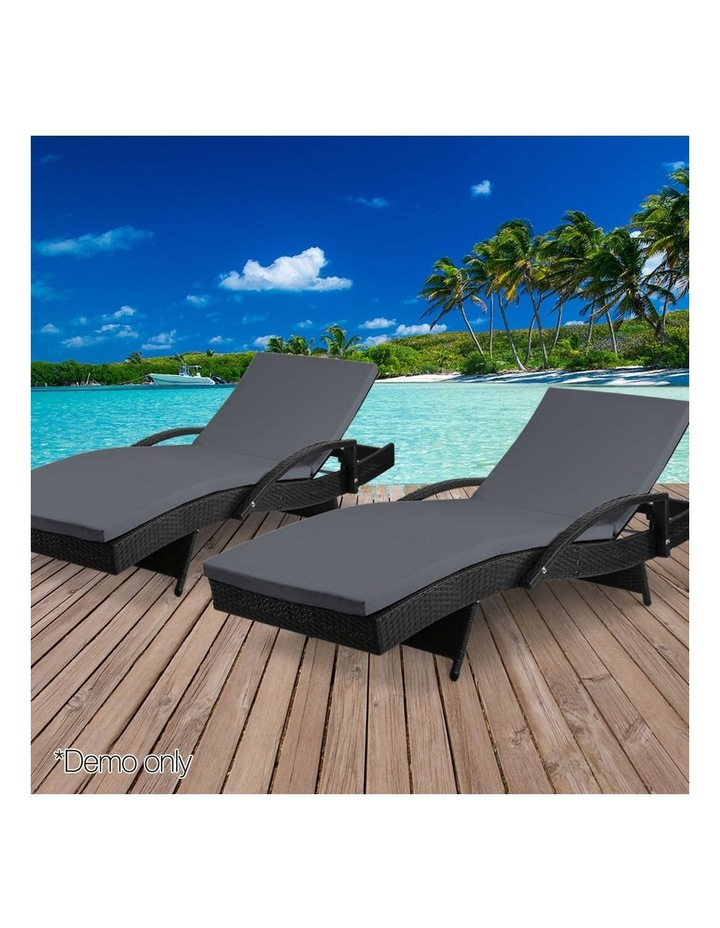 Outdoor Sun Lounge Chair with Cushion image 3